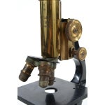 Image of Ernst Leitz Wetzlar Antique Brass Microscope & Box