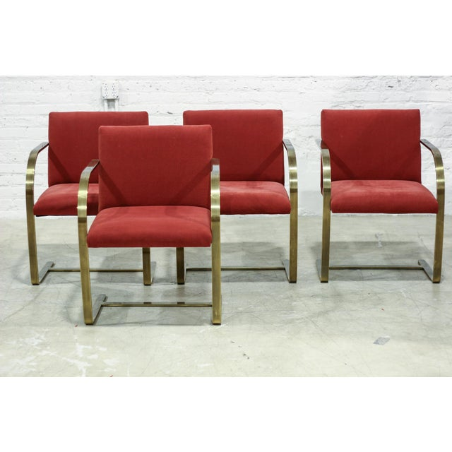 Image of Flat Brass Reproduction Brno Chairs - Set of 4