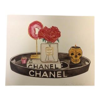 Chanel Watercolor Print by Mari Robeson