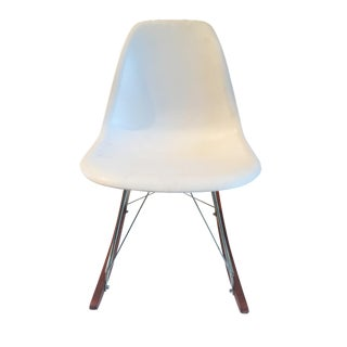 Eames-Style Molded White Rocker