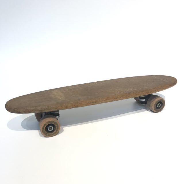 Vintage 1970's Wooden Skateboard - Image 2 of 6