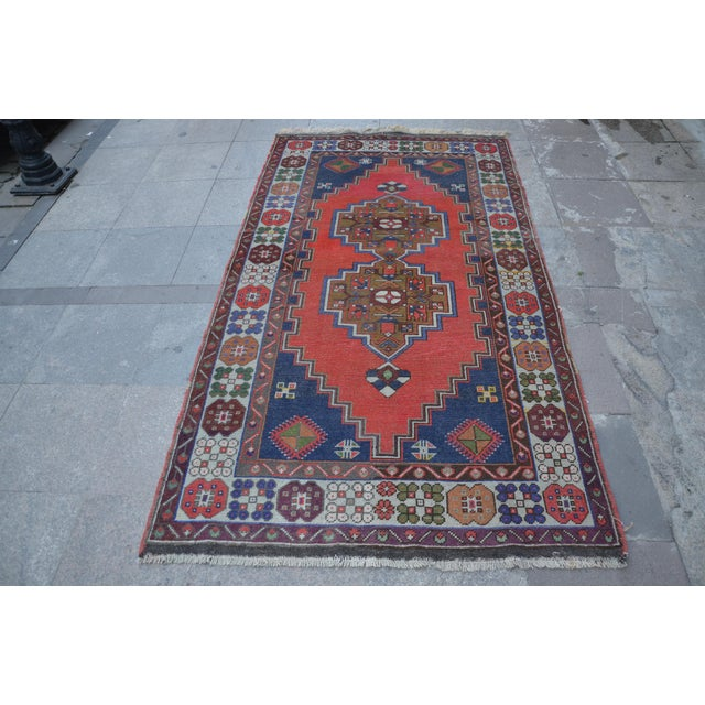 Vintage Turkish Handmade Rug - 4′1″ × 7′8″ - Image 2 of 6