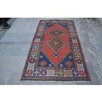 Image of Vintage Turkish Handmade Rug - 4′1″ × 7′8″