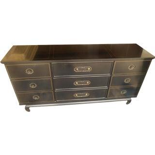 American of Martinsville Black Lacquer Dresser