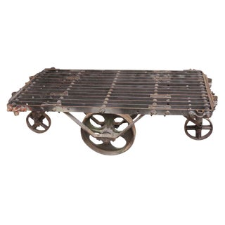 Industrial Metal Factory Cart Coffee Table