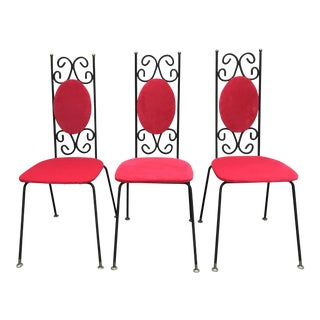 Mid-Century Gothic Arthur Umanoff Style Chairs - Set of 3