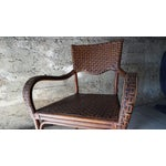Image of Vintage 2 Toned Wicker Side Chair