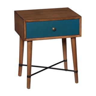 Mid-Century Modern Blue Accent Table