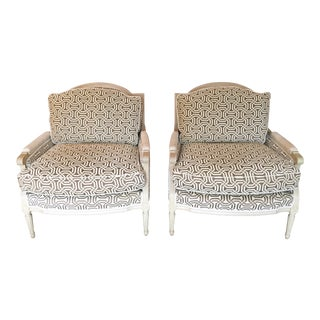 New Louis Style Living Room Chairs - A Pair