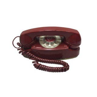 Vintage Red Princess Rotary Dial Telephone