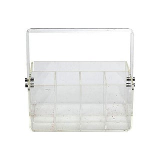 1970s Handled Transparent Plastic Carrier