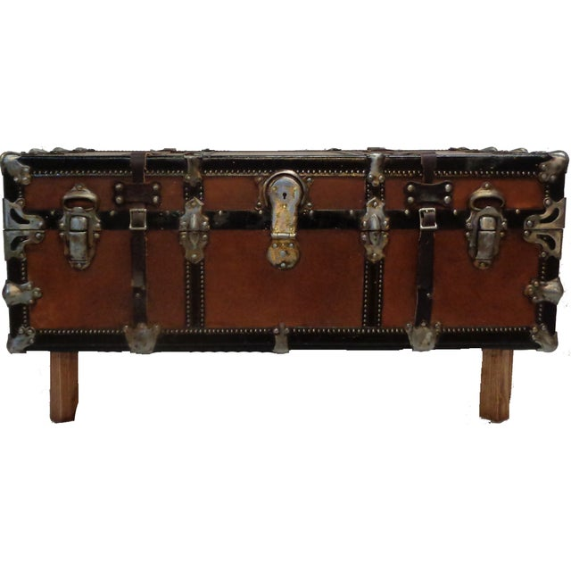 Image of Premium Steamer Trunk Coffee Table