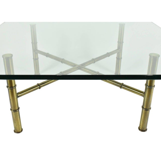 Faux Bamboo Coffee Table Attributed to Mastercraft - Image 2 of 8
