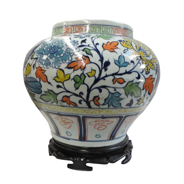 Image of Chinese Graphic Phoenix Display Pot Planter