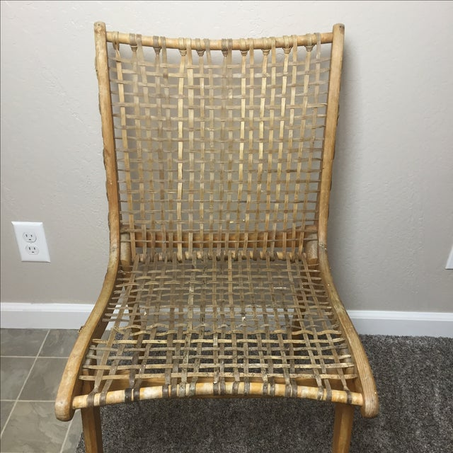 Tubbs Oak & Rawhide Side Chairs - A Pair - Image 3 of 11