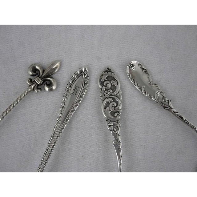Victorian Sterling Silver Pierced Bon-Bon Servers - Set of 4 - Image 4 of 10