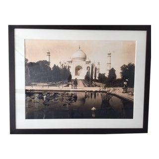 Framed Taj Majal Photograph