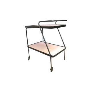 Vintage Pink & Black Bar Cart