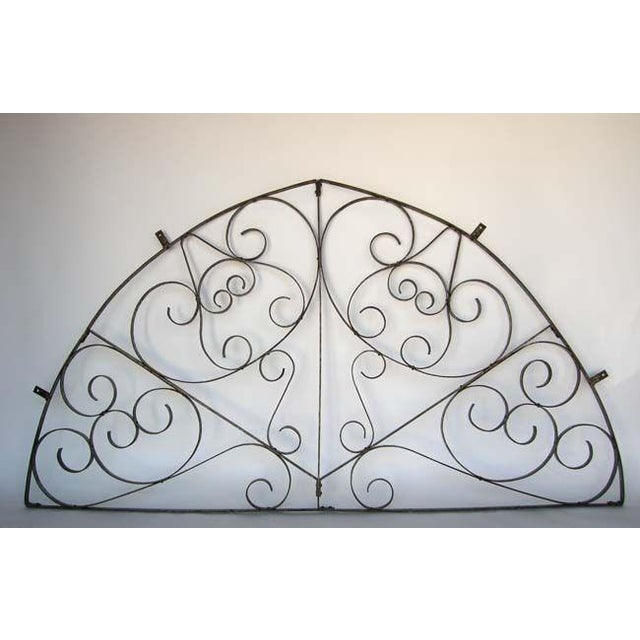 Large Scale Decorative Iron Architectural Arch - Image 2 of 10