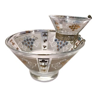 Mid-Century Chip and Dip Serving Bowls