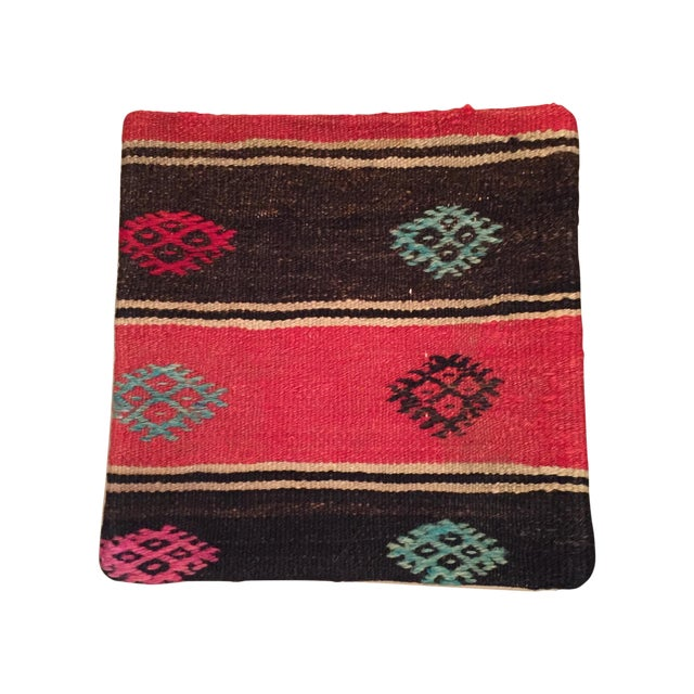 Vintage Striped Kilim Pillow - Image 1 of 5