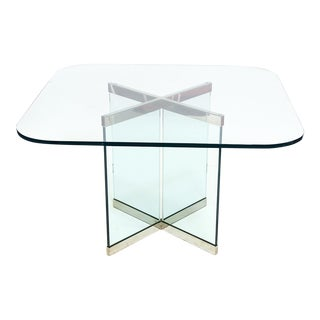 Glass & Chrome Dining Table by Leon Rosen for Pace Collection