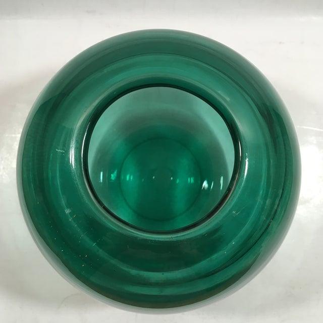 Image of Art Deco Orrefors Optic Ribbed Vase by Edward Hald