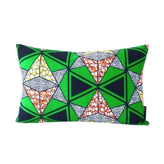 Navy & Green Douala Pillow