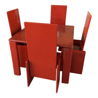 Kazuhide Takahama Lacquer Table and Chairs Simon International Italy