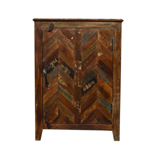 Rustic Reclaimed Nightstand - Image 1 of 3
