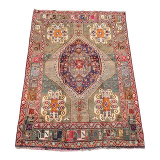 Persian Gabbeh Shiraz Rug - 4′11″ × 6′11″