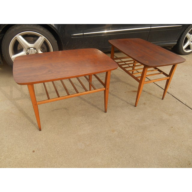 1950s Mid Century End Table By Lane Furniture: Mid-Century Danish Modern Lane End Tables