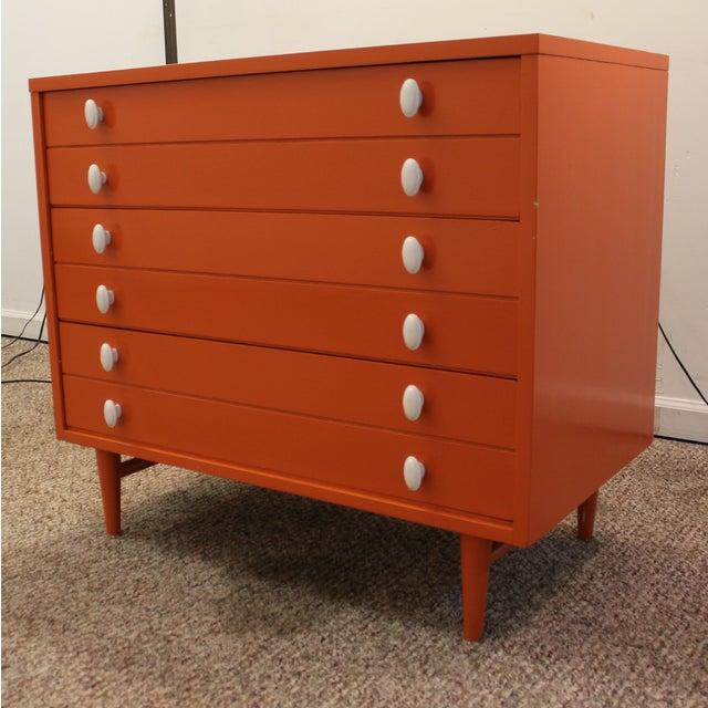 Atomic Orange Laminate Dresser - Image 2 of 11
