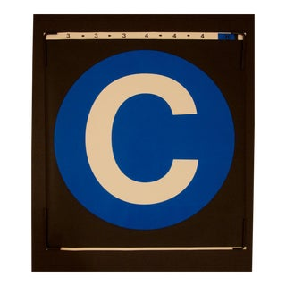 "New York City Subway ""C"" Train Sign"
