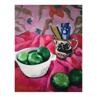 "Neicy Frey ""Incense and Limes"" Original Still Life Painting"