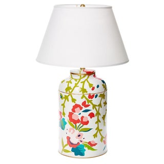 Dana Gibson Chintz Tea Caddy Lamp
