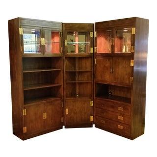 Henredon Scene I Campaign Style Cabinets - Set of 3