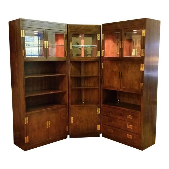 Image of Henredon Scene I Campaign Style Cabinets - Set of 3