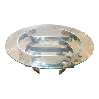Paul Mayen Mid-Century Aluminum & Glass Coffee Table