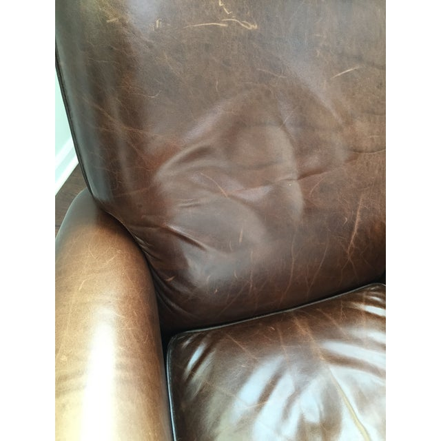Room and Board Dark Brown Leather Recliner - Image 5 of 6