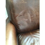 Image of Room and Board Dark Brown Leather Recliner