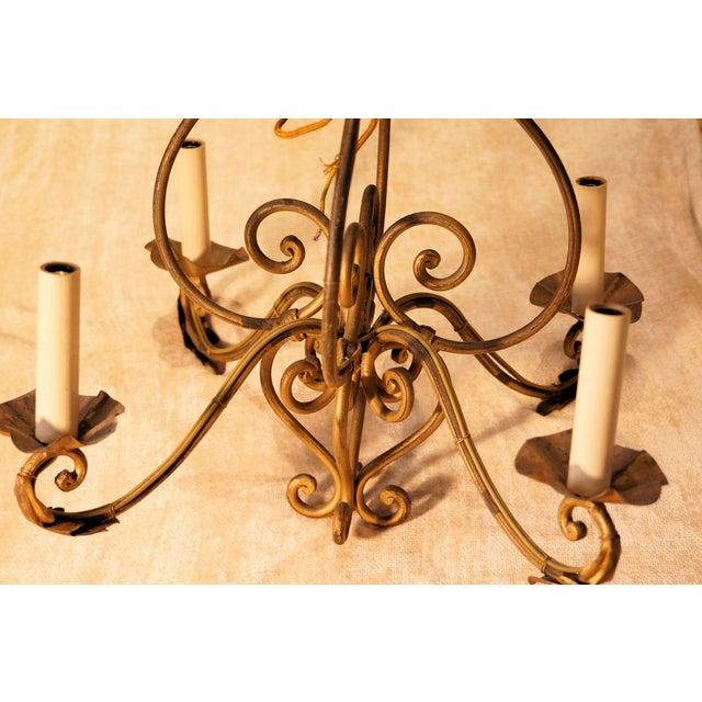 Abc Carpet & Home Bronze Chandelier - Image 4 of 4