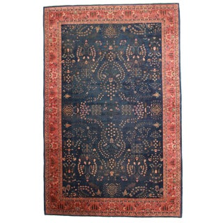 RugsinDallas Antique Indian Agra Hand Knotted Wool Rug- 10′10″ × 16′9″