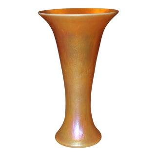 C1980's Steuben Style Contemporary Gold Vase