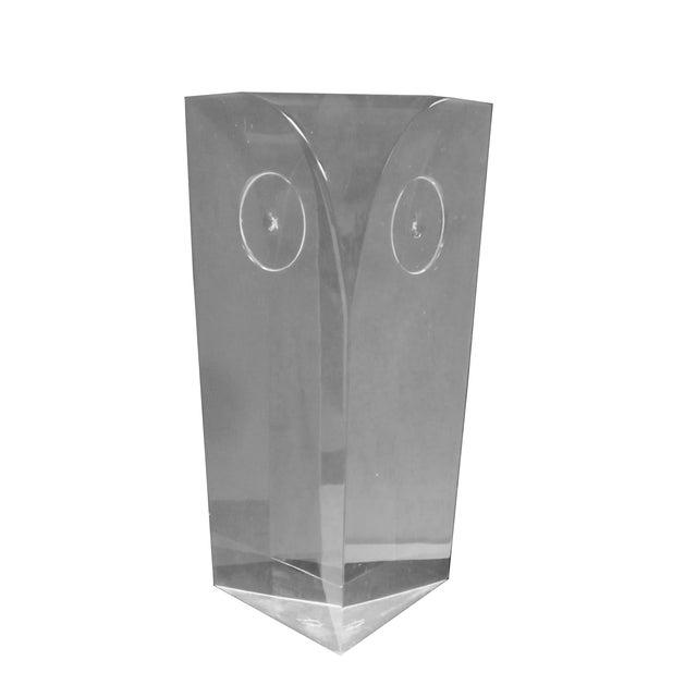 Guzzini Attri. Modernist Lucite Owl Sculpture - Image 1 of 10