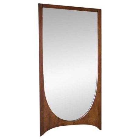 Mid Century Broyhill Brasilia Walnut Mirror - Image 1 of 3