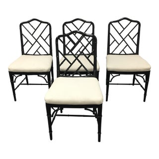 Thomas Chippendale Faux Bamboo Chairs - Set of 4
