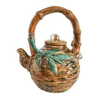 Vintage Raku Pottery Teapot