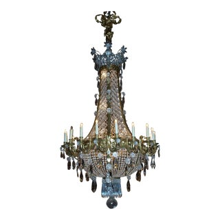 Antique Chandelier Baccarat Basket Style Chandelier