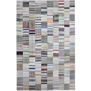 "Hand Knotted Antique Patchwork Rug - 12'11"" X 9'9"""